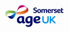 Text logo: Age UK Somerset
