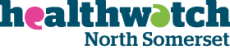 Text logo: Healthwatch North Somerset