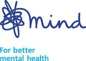 Text logo: Mind for better mental health