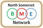 Text logo: North Somerset BME Network