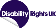 Text logo: Disability Rights UK