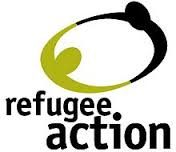 Text logo: Refugee Action